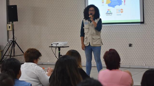 Capacitações de outubro do projeto do UNFPA e da ITAIPU no Oeste do Paraná