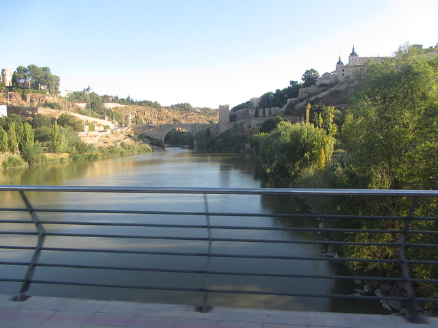 Crossing the Rio Tajo (River  Tagus),by the  Puente  de Azarquiel, Toledo.