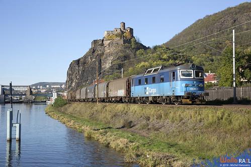 130 005 . ČD Cargo . Ústí nad Labem-Střekov . 12.10.19.
