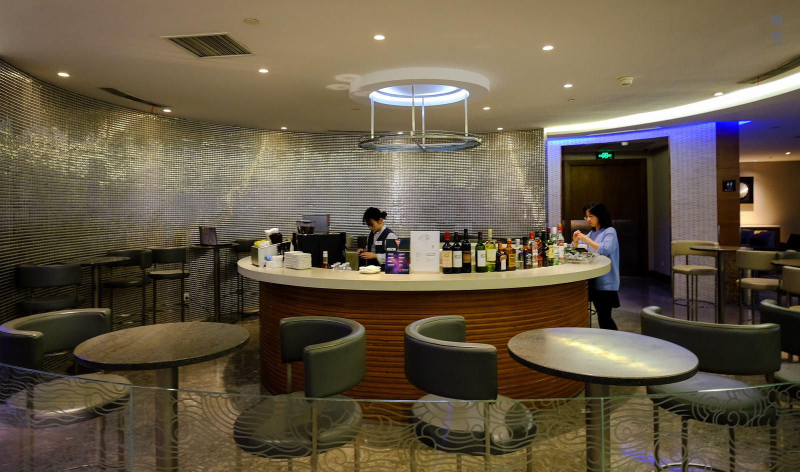Bar counter and seating