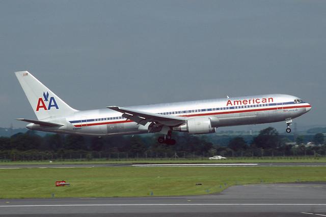 N368AA Boeing B767-323(ER) EGPF 1993