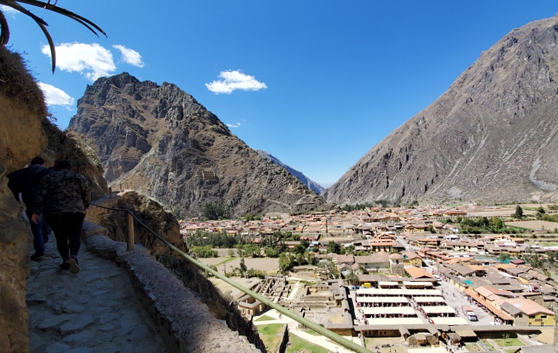 view over Ollantaytambo