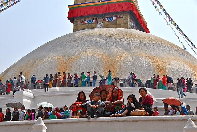 Nepal- Katmandu- Boudahnath stupa
