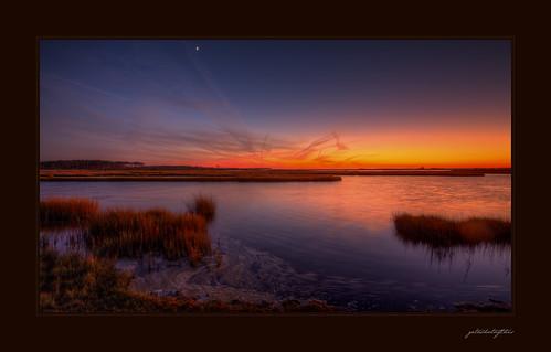 sunset orange marsh saltmarsh federalpark assateague