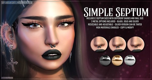AsteroidBox. Simple Septum - VIP Group Gift