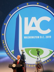 Mike Pence speaking at IAC2019 Opening Ceremony
