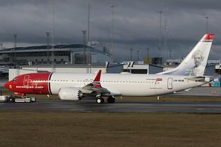 Norwegian Air Shuttle Boeing 737-8 MAX LN-BKB 191103 ARN