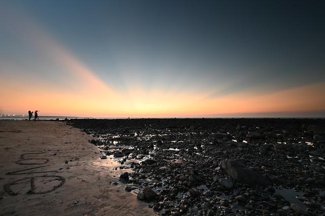 沙崙海灘夕陽 Sunset at the  beach