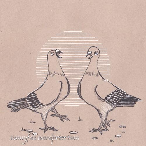 30 pigeons