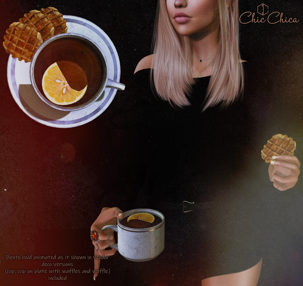 Tea with waffles by ChicChica @ Cosmopolitan