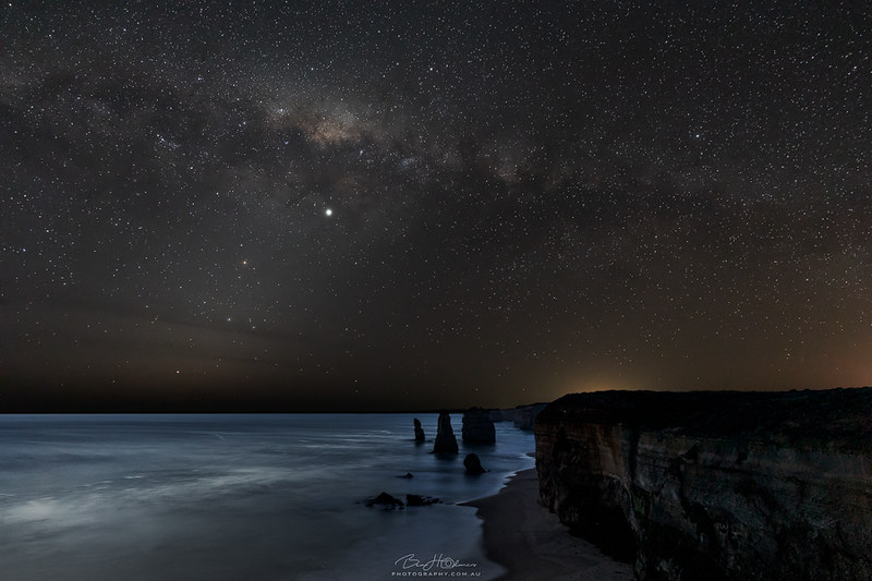 Great ocean Road under the Milky Way