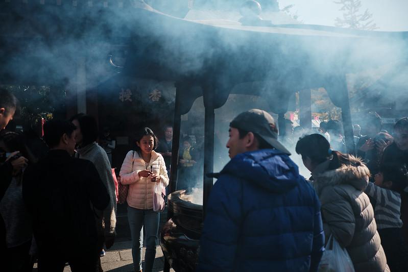 Burning incense at the Sensō-ji