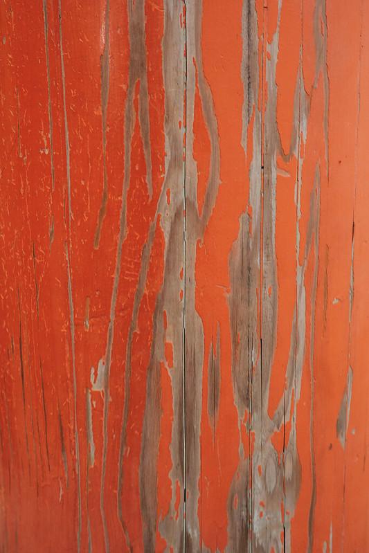 Texture of a torii at Fushimi Inari-taisha in Kyoto