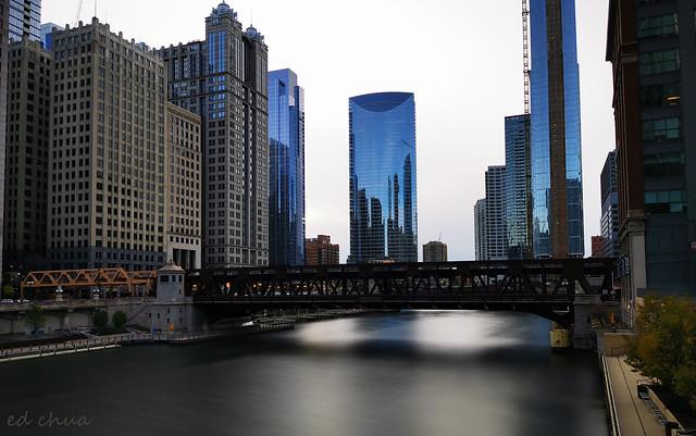 Chicago Riverwalk, River Point Building (Center)