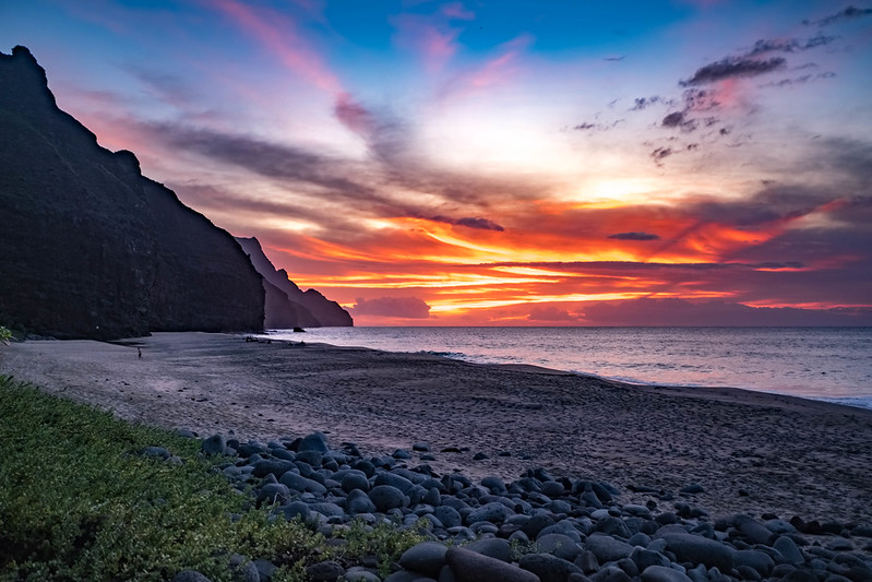 Kalalau Beach - Sunset
