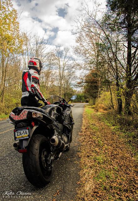 Motorcycle Pennsylvania Fall Foliage