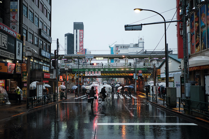 A rainy day at Shin-Ōkubo in Tokyo