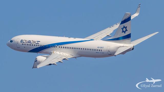 TLV - El Al Boeing 737-800 4X-EKT