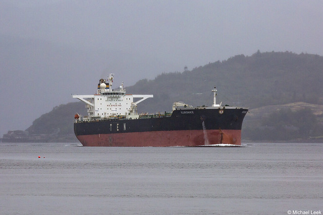 The Maltese registered crude oil tanker Euronike, IMO 9299678; Loch Long, Firth of Clyde, Scotland