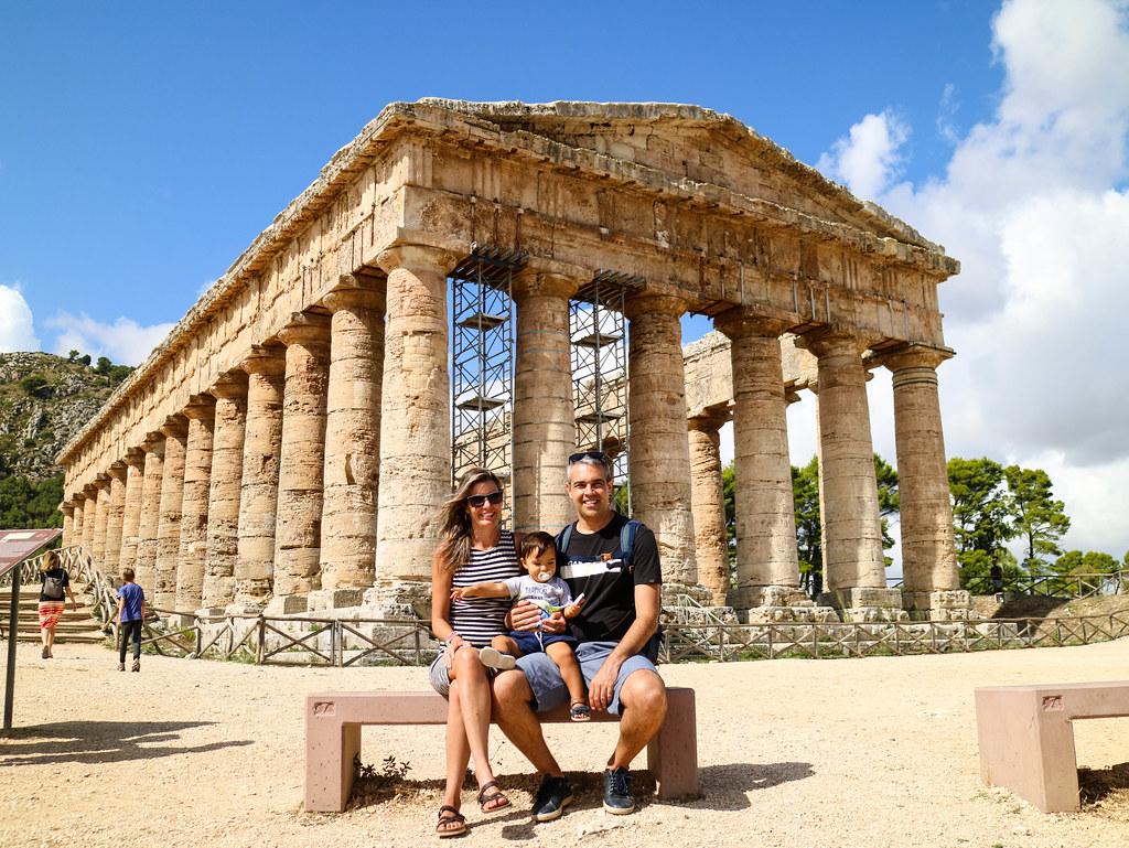 Visita a el Templo de Segesta con niños