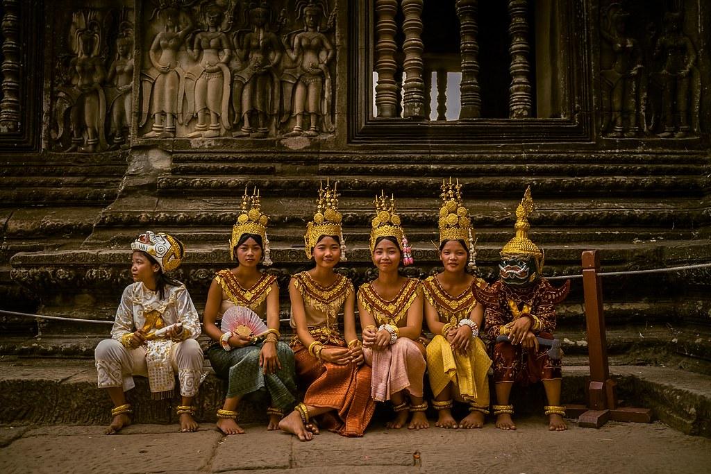 Traditional Cambodian Clothing at Angkor Wat