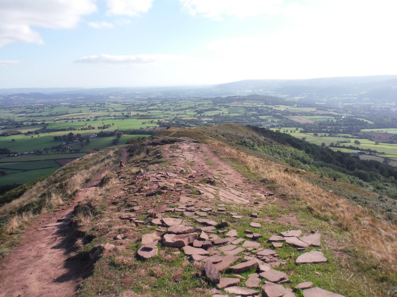 Backview from the ridge of The Skirrid SWC Walk 347 - Llanvihangel Crucorney Circular (via Bryn Arw and The Skirrid)