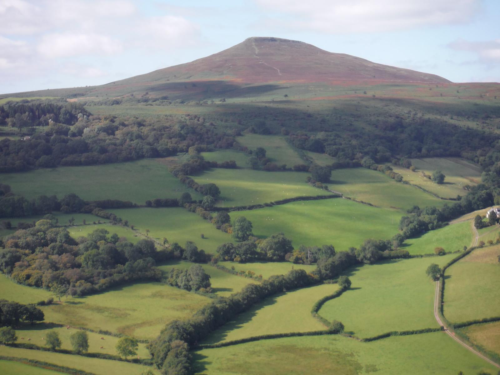 View from Bryn Arw past Blaenawey Farm to Sugar Loaf SWC Walk 347 - Llanvihangel Crucorney Circular (via Bryn Arw and The Skirrid)