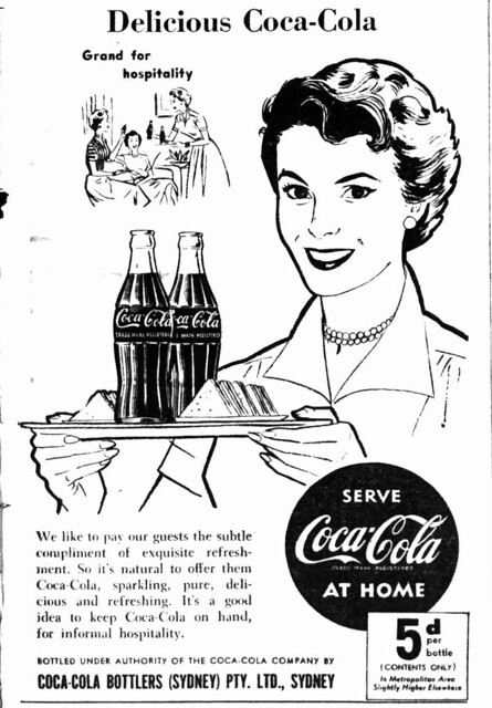 1954 advertisement for Coca-Cola - Grand for Hospitality