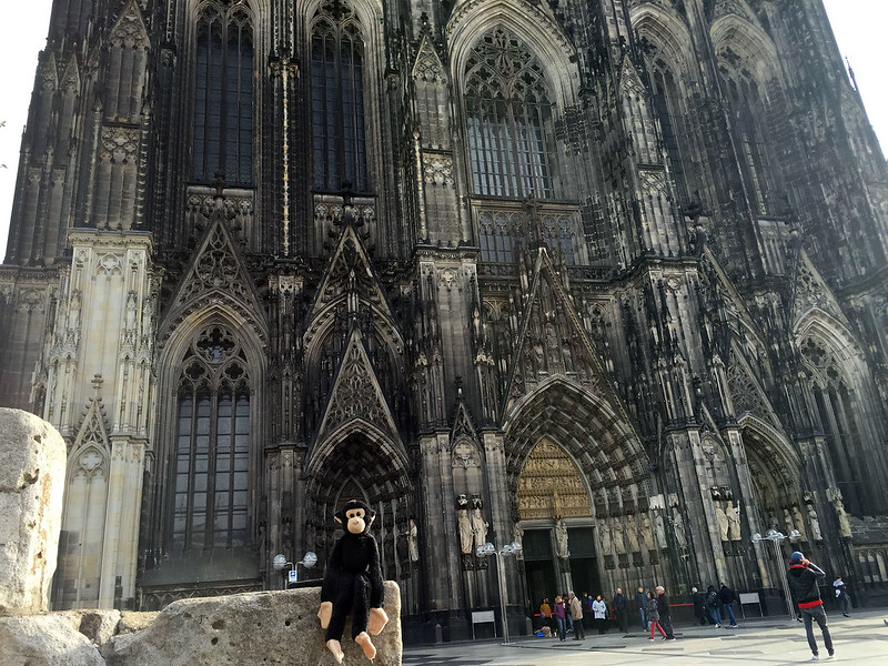 Monkey at Cologne Cathedral