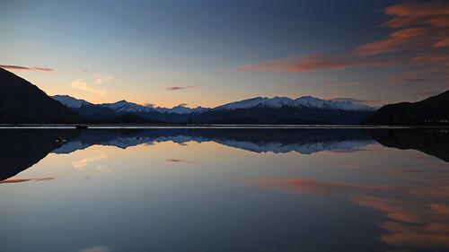 landscape otago lakewanaka wanaka bremnerbay lake mountain mountains reflection sunset