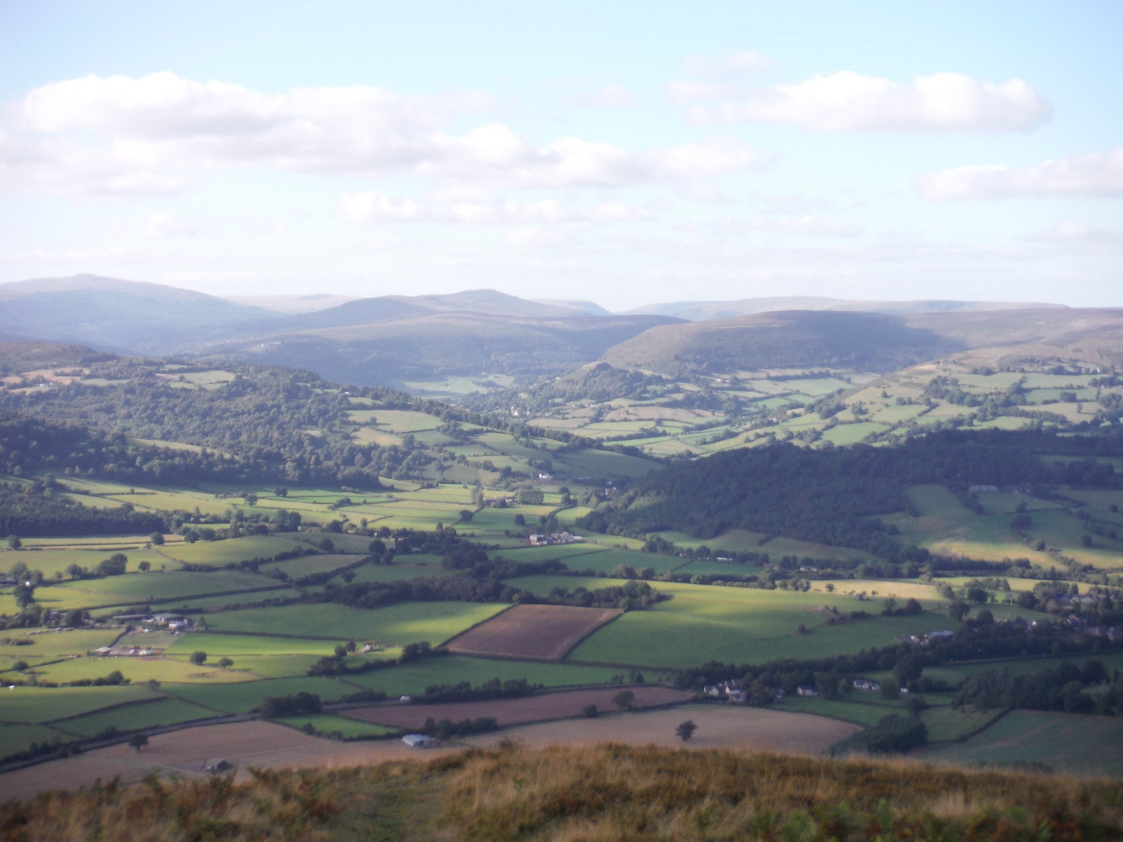 Cwmyoy Crag and The Black Mountains Ranges, from the ridge of The Skirrid SWC Walk 347 - Llanvihangel Crucorney Circular (via Bryn Arw and The Skirrid)