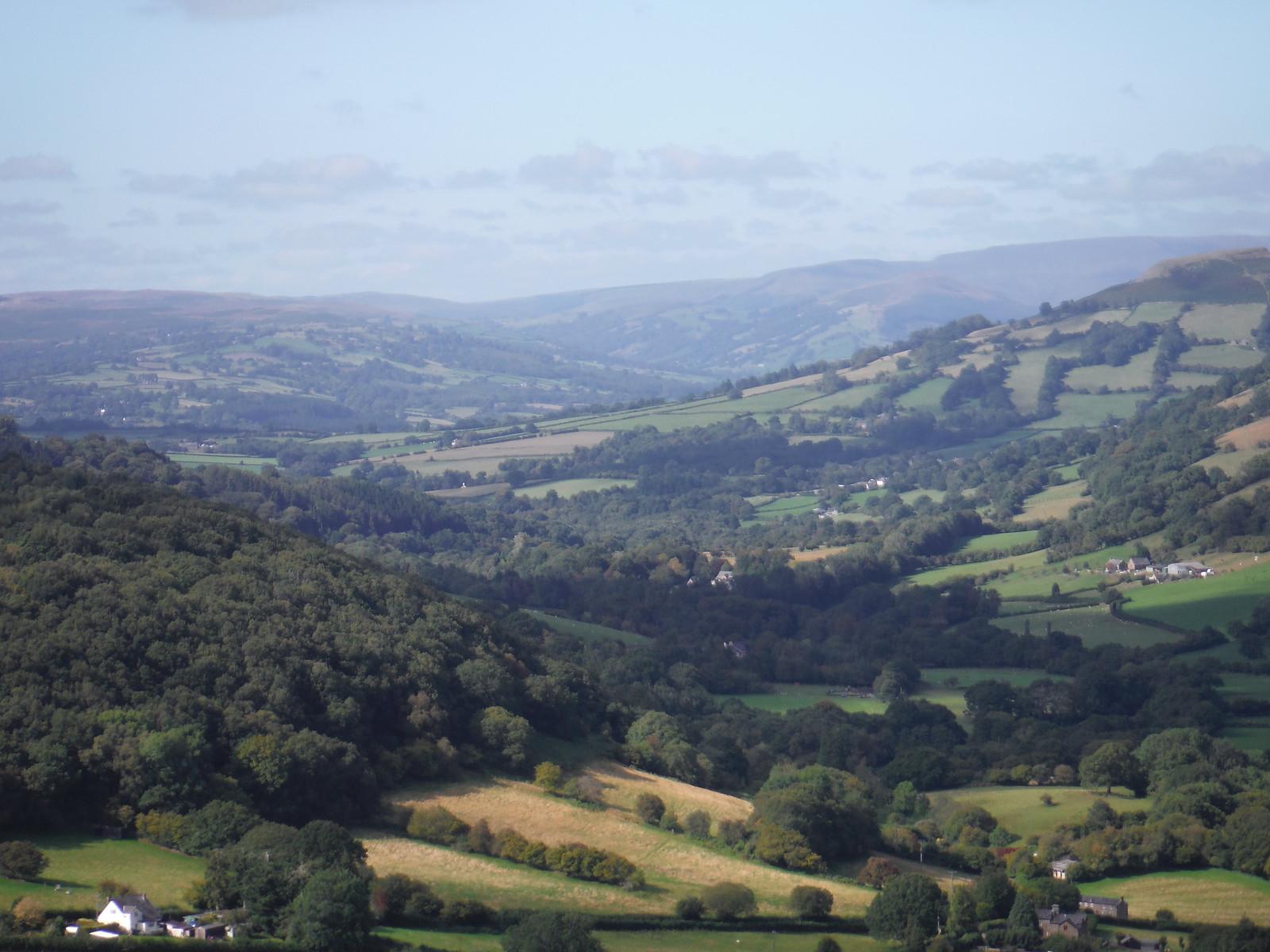 Westerly View from Coal Pit Hill, Bryn Arw SWC Walk 347 - Llanvihangel Crucorney Circular (via Bryn Arw and The Skirrid)
