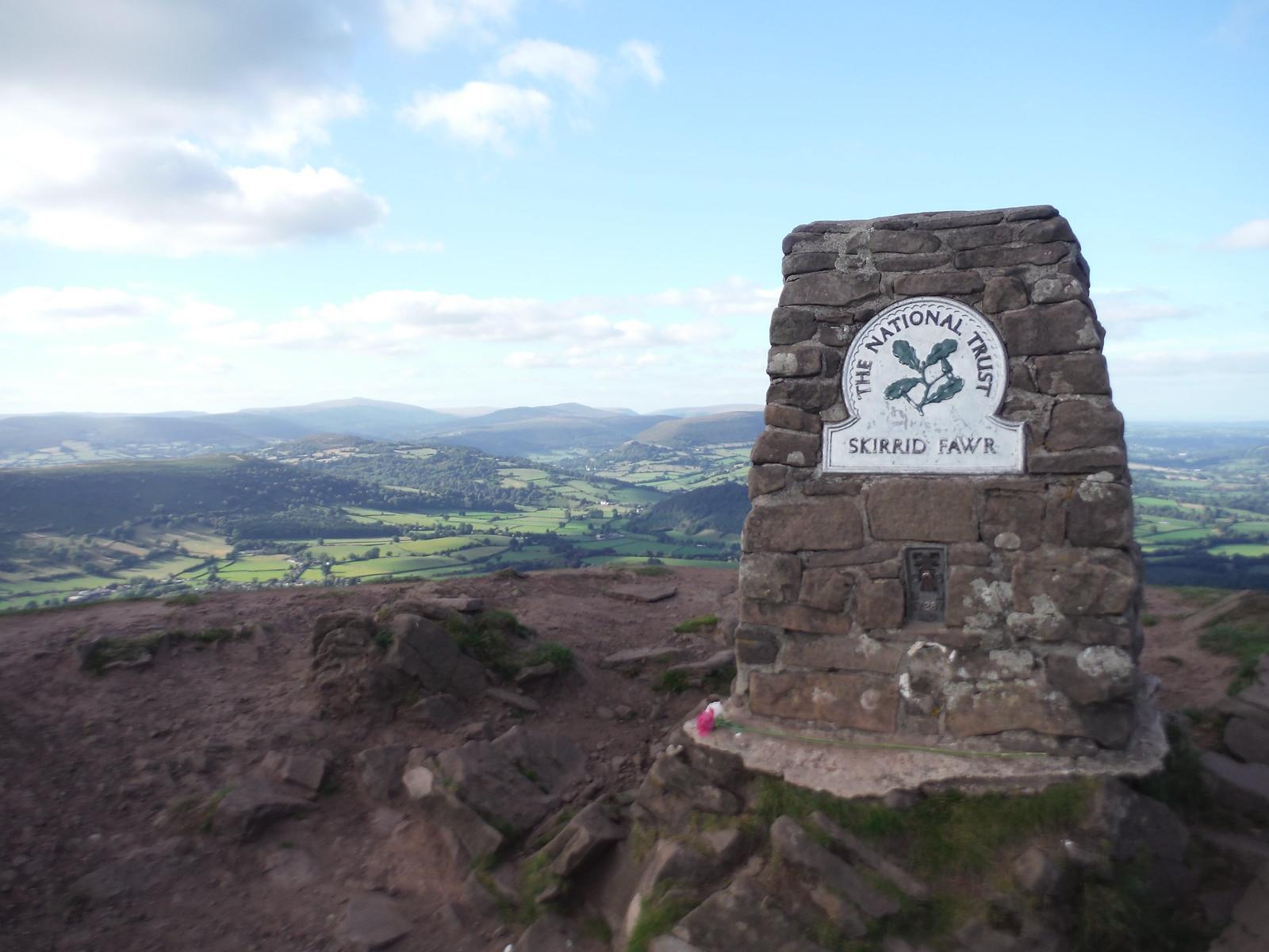Trig Point with Views, The Skirrid/Ysgyryd Fawr SWC Walk 347 - Llanvihangel Crucorney Circular (via Bryn Arw and The Skirrid)