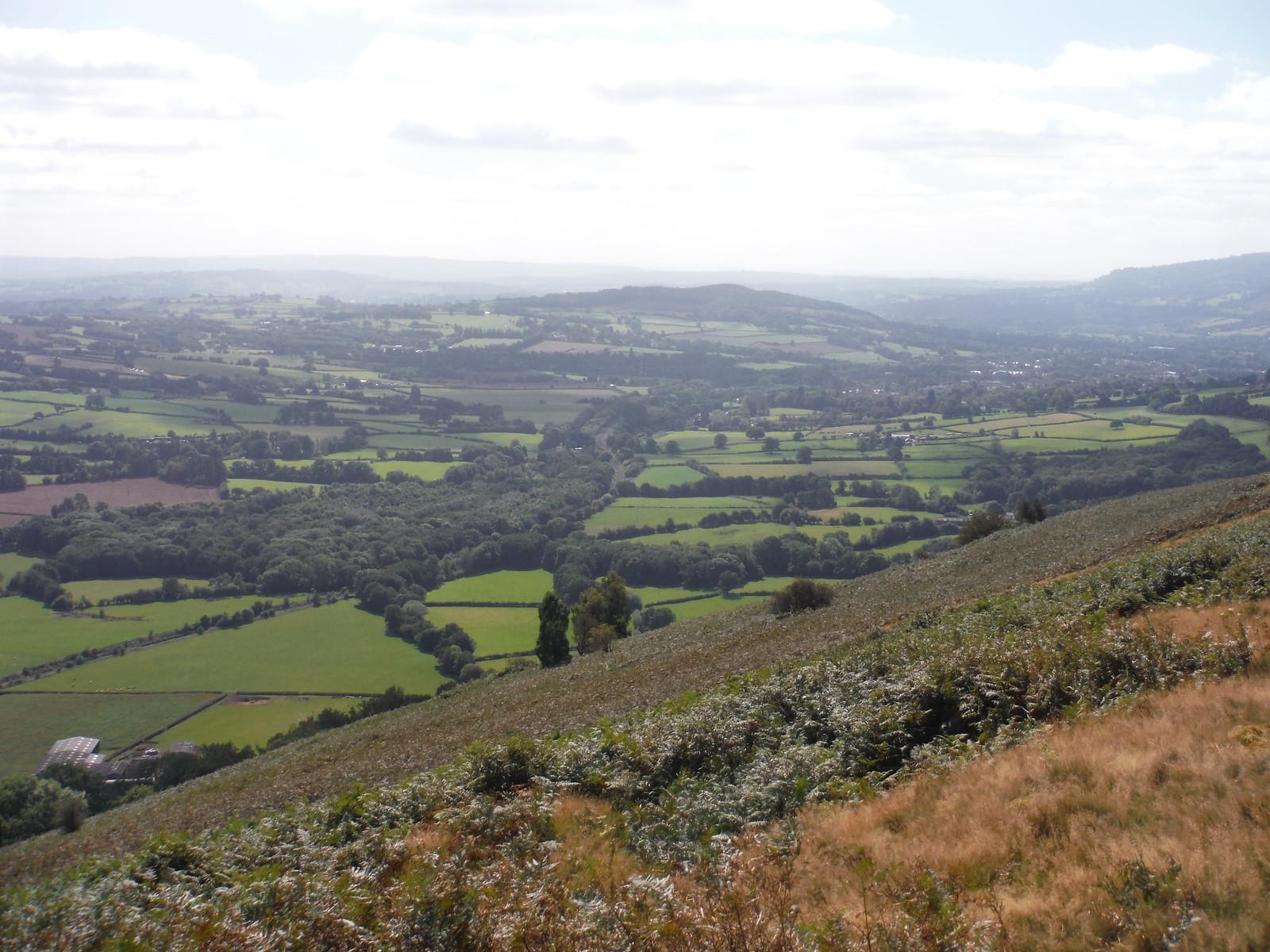 View down the Gavenny Valley towards Ysgyryd Fach, from Bryn Arw SWC Walk 347 - Llanvihangel Crucorney Circular (via Bryn Arw and The Skirrid)