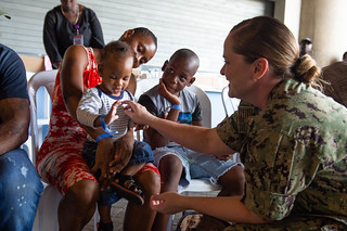 USNS Comfort (T-AH 20) provideds medical services at a temporary medical treatment site in Kingston, Jamaica | by Official U.S. Navy Imagery