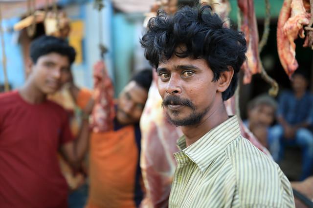 India, market vendor in Tamil Nadu