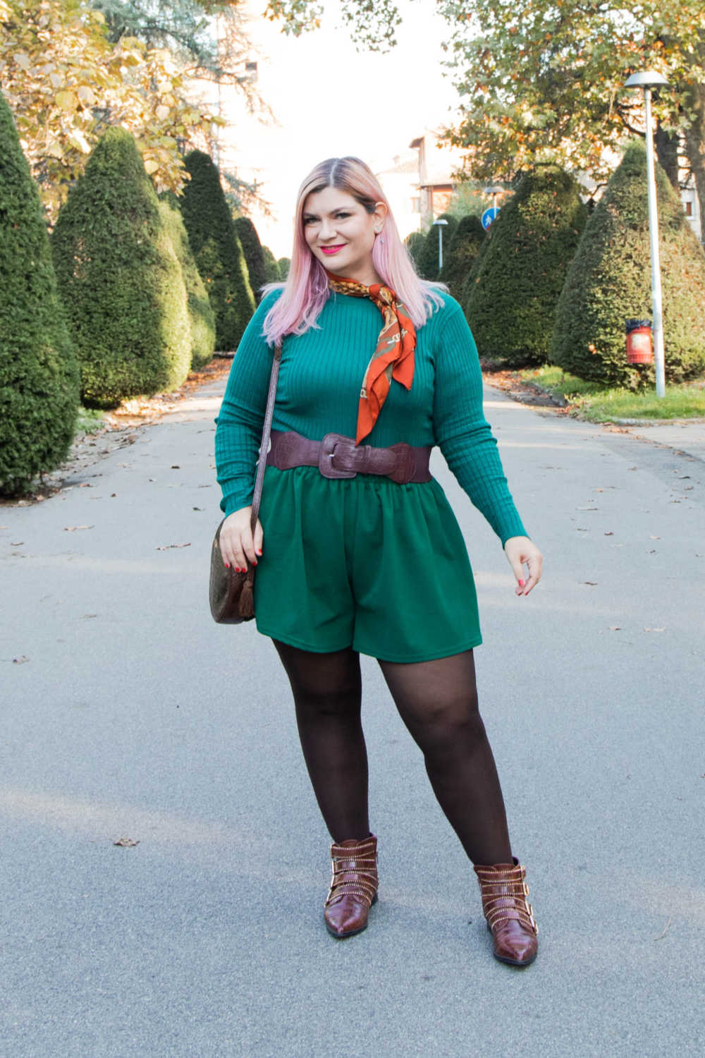 Outfit curvy personal size, pantaloncini come indossarli d'inverno (9)