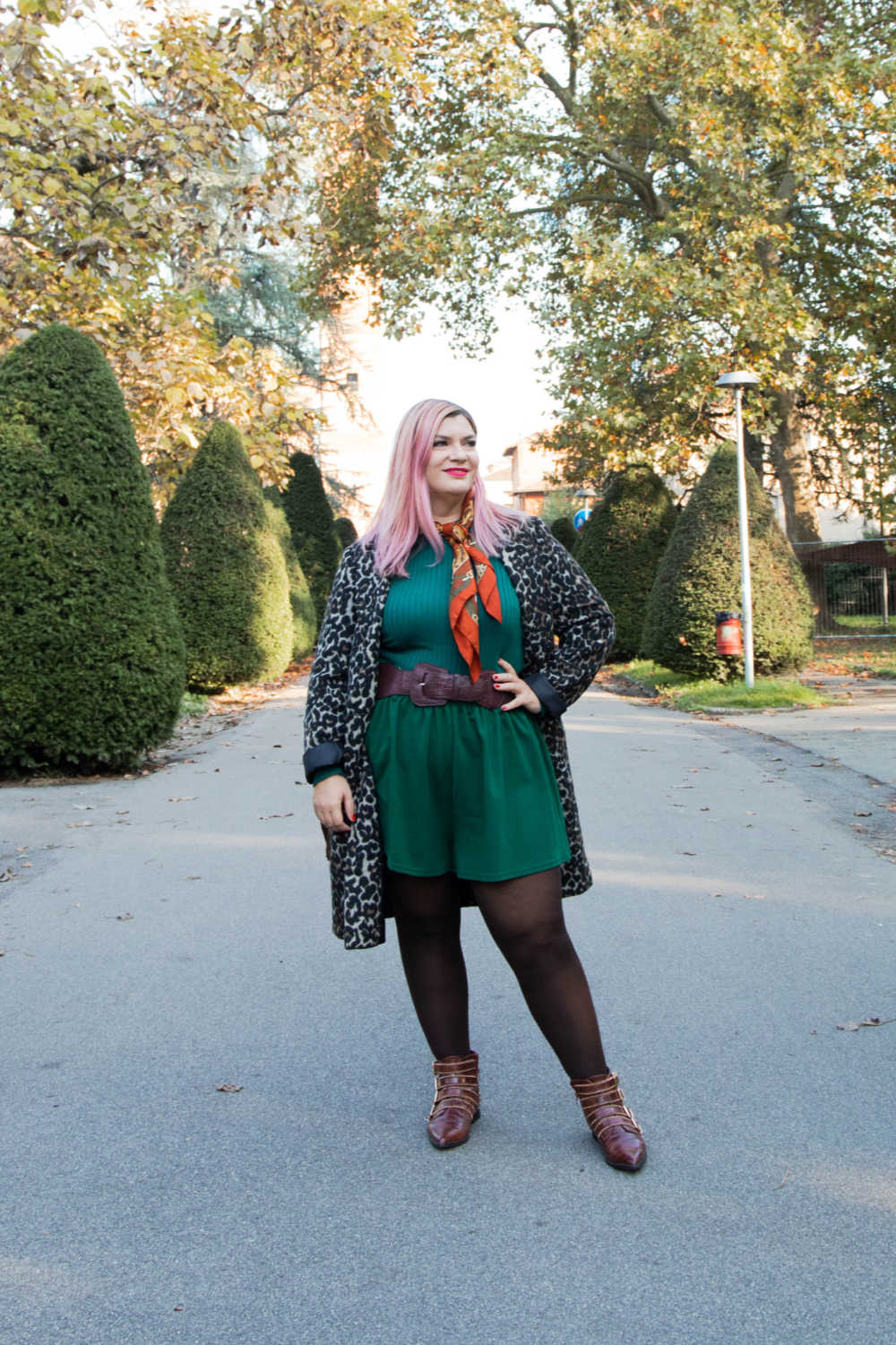 Outfit curvy personal size, pantaloncini come indossarli d'inverno (4)
