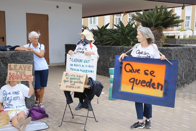 Protesta contra la retirada de los caballos de Jason DeCaires (04-11-19)