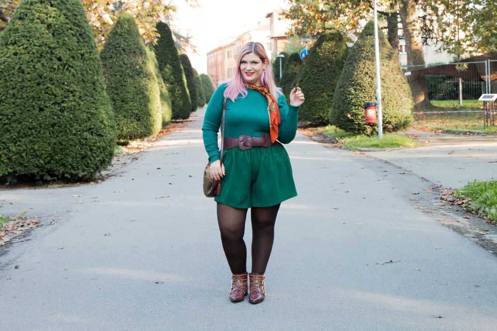 Outfit curvy personal size, pantaloncini come indossarli d'inverno (7)