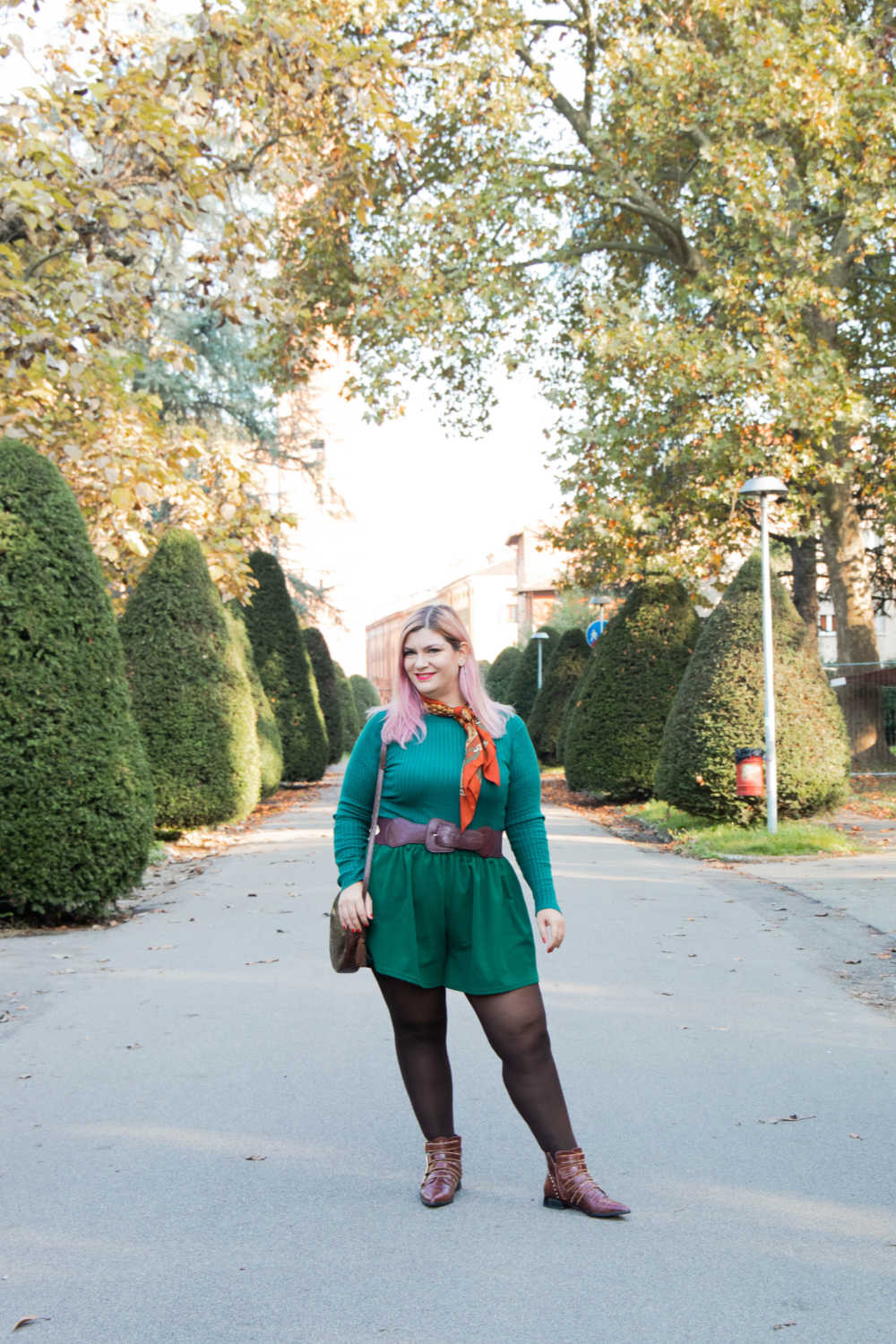 Outfit curvy personal size, pantaloncini come indossarli d'inverno (8)