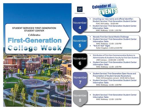 FIRST Gen College Week Calendar - Maritza Machado-Williams
