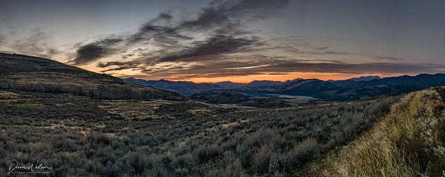 Methow Valley sunrise - Winthrop, Washington State