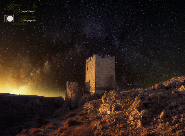 10th-century Spanish castle and Milky Way