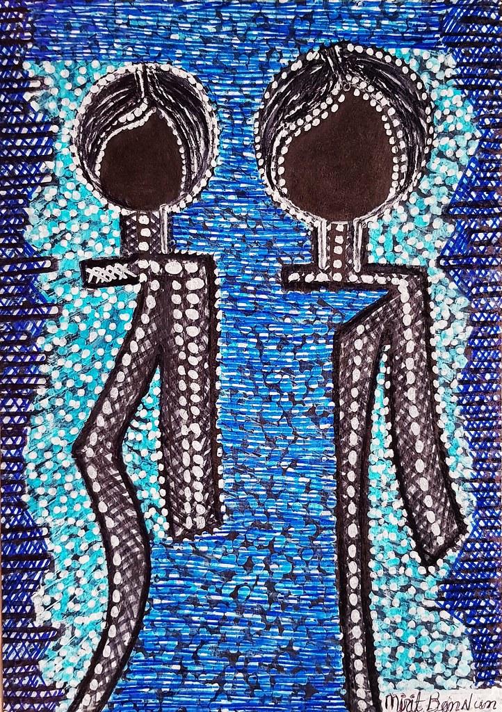 בן נון מירית ציירת מודרנית אמנית ישראלית סגנון אתני