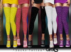 Socks Solid Colors TaTToo - 8 Colors [CAROL G]