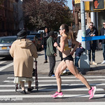 2019 TCS New York City Marathon on Fifth Avenue in Central Harlem, Manhattan NYC