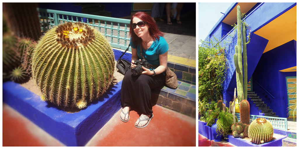 Me with huge cactus, Jardin Majorelle