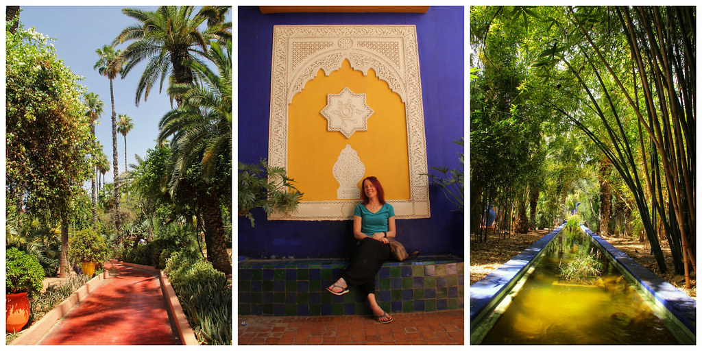Me relaxing in the Jardin Majorelle, Marrakech