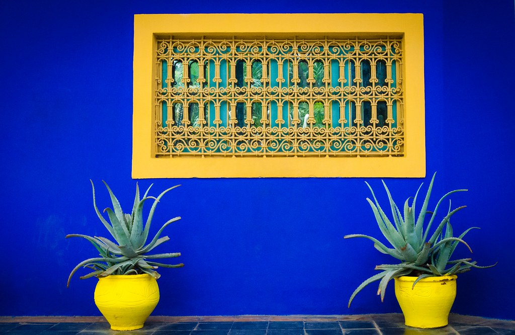 Blue wall at Jardin Majorelle, Marrakech
